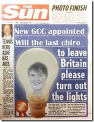 GCC sceptics redefining Chiropractic in the UK.