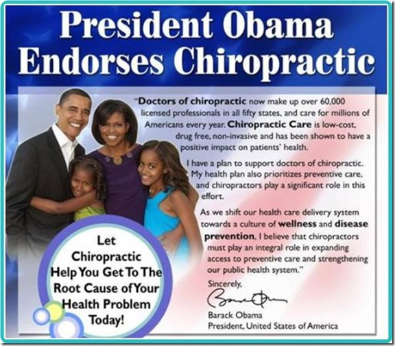 US chiropractors have Barak Obama, we have Margaret Coats