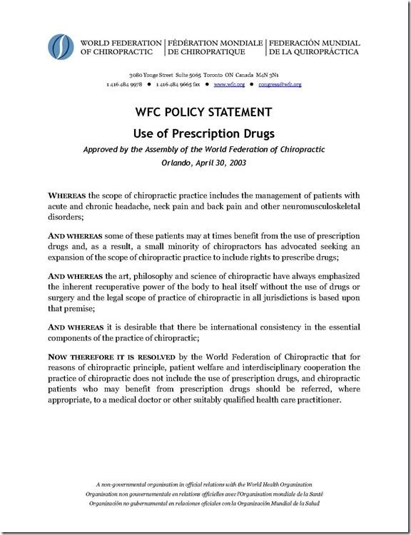 WFC prescription drugs policy