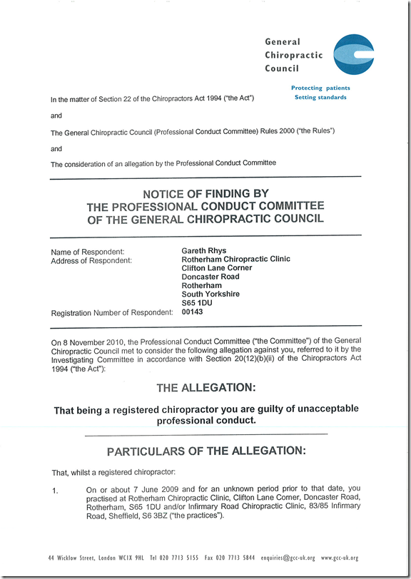 PCC find 18 chiropractors not guilty of trying to mislead the public into thinking they were medical doctors. 680 to go.